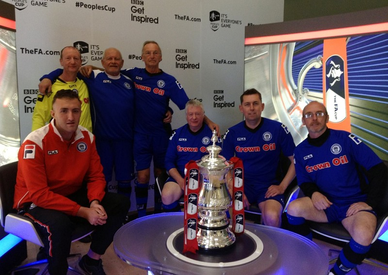 Steve with his Rochdale AFC teammates at the finals of the peoples FA Cup