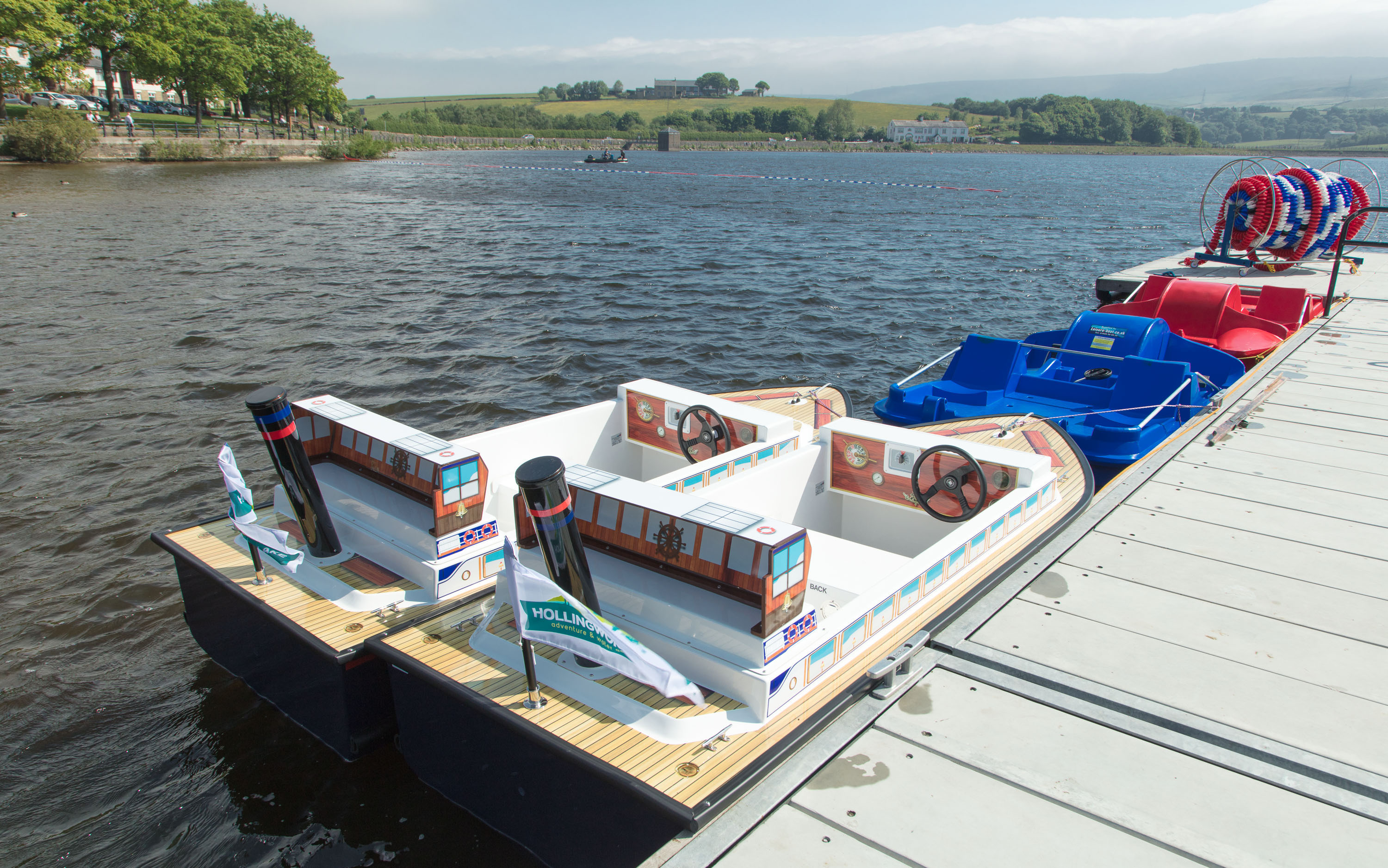 Featured image for FAMILY FUN WITH LAUNCH OF PADDLE BOATS AT REVAMPED HOLLINGWORTH LAKE ADVENTURE AND WATER ACTIVITY CENTRE