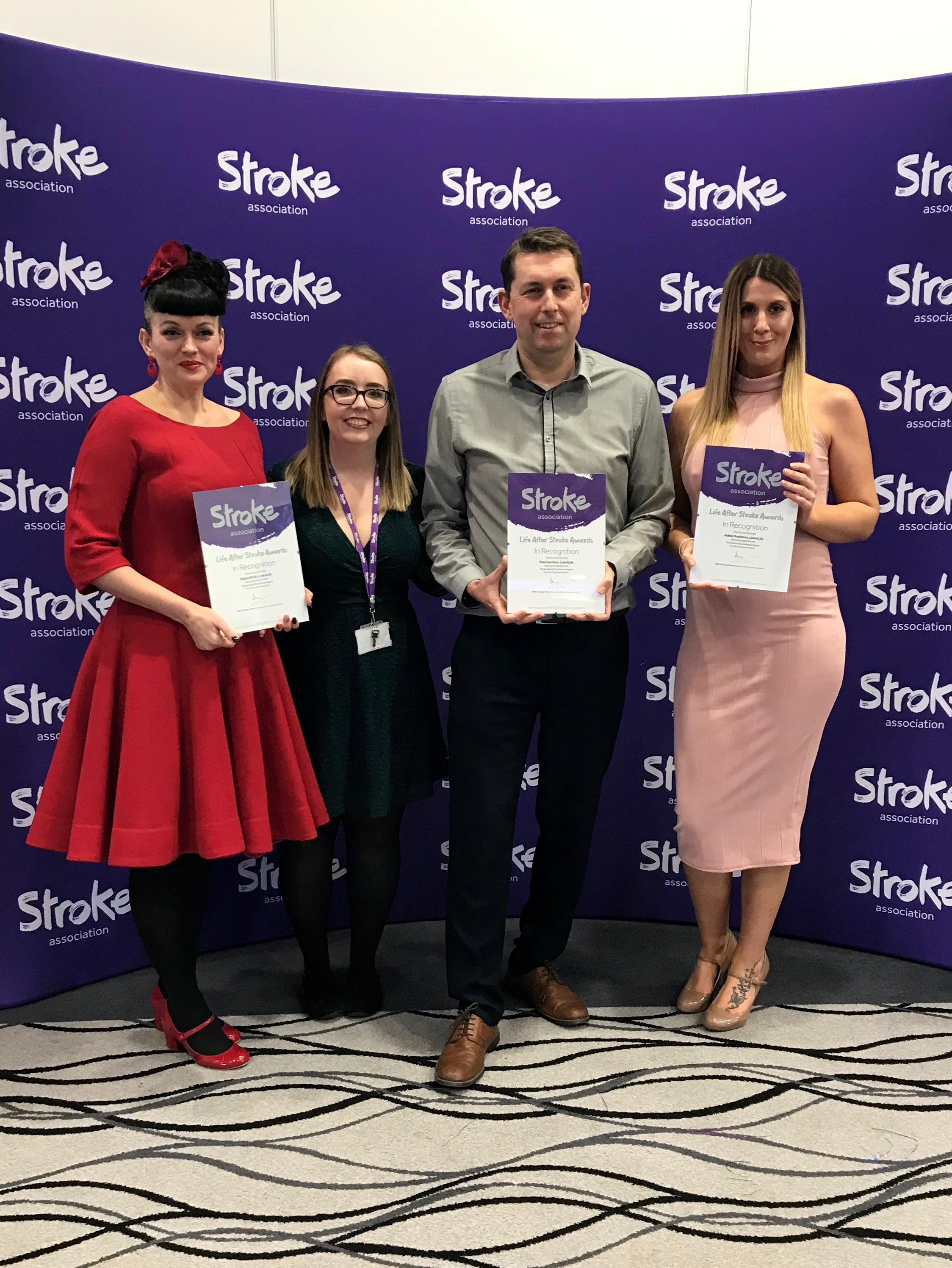 Featured image for Stroke charity awards highlights great work by Link4Life staff and volunteers