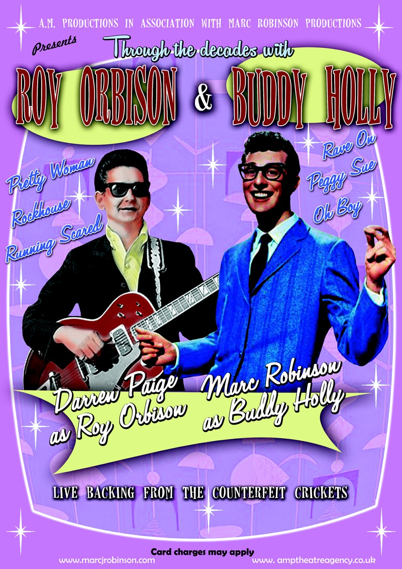Darren Paige and Marc Robinson as Roy Orbison and Buddy Holly