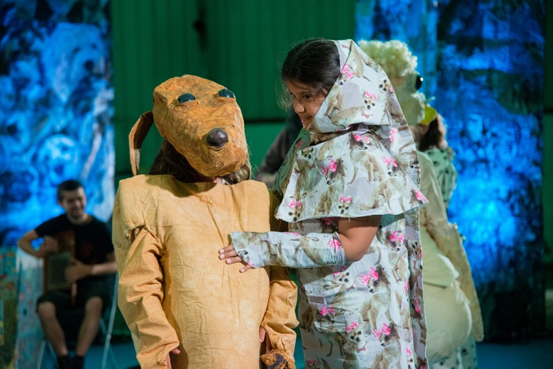 Image: Marvin Gaye Chetwynd, Dogsy Ma Bone, 12 June 2016 at Cains Brewery, Liverpool. Courtesy the artist and Sadie Coles HQ, London. Photo: Mark McNulty © Liverpool Biennial